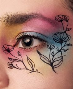Eye Make Up, Watercolor Tattoo, Eyes, Tattoos, Makeup, Floral, How To Make, Photography, Make Up