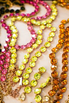 Oscar de la Renta via From Me To You - gorgeous #necklaces, love the colors