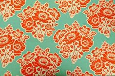 Michael Miller - Fresh Cut Flowers -love the vintage design. Would be good to reupholster a chair seat or used for throw pillows