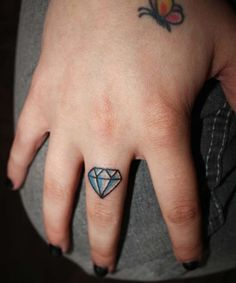 5d0b04d2066fa diamond on my arm with Estella on top and Gregory on bottom of it Finger  Tattoos