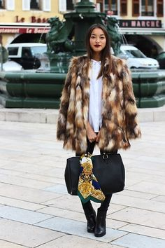 Get this look: http://lb.nu/look/7858222  More looks by Téva Sartori: http://lb.nu/tvswb  Items in this look:  Zara Faux Fur Coat   #chic #elegant