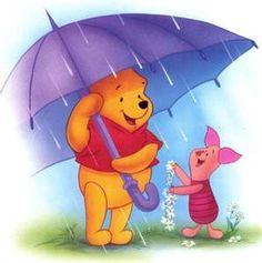 Rainy Day Pooh and Piglet