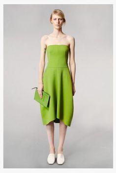 Vestido de fiesta 2014 en color verde limón.