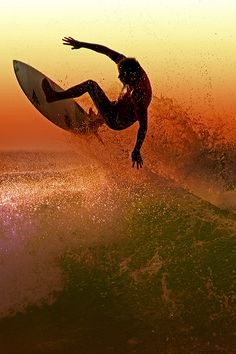 Surfing // fall colors
