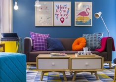 tapete colorido sala - Pesquisa Google