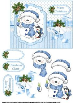 Snowman cheers on Craftsuprint - Add To Basket!