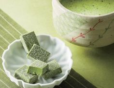 """Go green, and have a great St. Patrick's Day everyone! Our Nama Chocolate """"Maccha"""" is the perfect snack for this special day, featuring soft blocks of green tea chocolate that melt in your mouth!"""