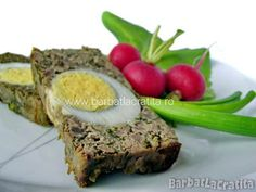 Drob de pui Romanian Food, Eclairs, Meatloaf, Mashed Potatoes, Eggs, Breakfast, Ethnic Recipes, Paste, Orice