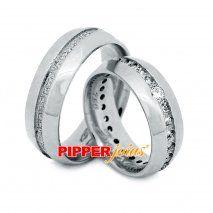 Alianças de compromisso em prata - Alm613
