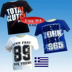 a498a2ab075a Ανδρικές μπλούζες κοντομάνικες βαμβακερές με στάμπα Ελληνικής ραφής Μεγέθη S -XXXL σε 3 διάφορα χρώματα