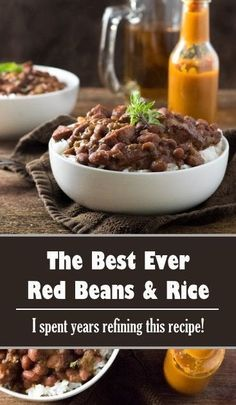 Best Ever Red Beans and Rice Recipe FULL RECIPE HERE Part of me was dynamic upon a build it and they will arrive mentality (probably out of self prese. Chamorro Red Rice Recipe, Red Rice And Sausage Recipe, Red Rice Recipe Mexican, Red Rice Recipe Southern, Red Rice Salad Recipe, Red Beans And Rice Recipe Vegan, Vegetarian Rice Recipes, Rice Noodle Recipes, Kidney Beans And Rice
