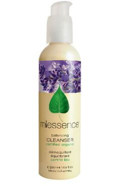 Miessence Balancing Cleanser is certified to international organic food standards - Literally pure enough to eat. It is formulated with essential oils chosen specifically for normal or combination skin.