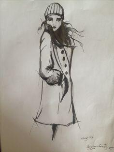 Fashion ilustracion by Tako beglarishvili