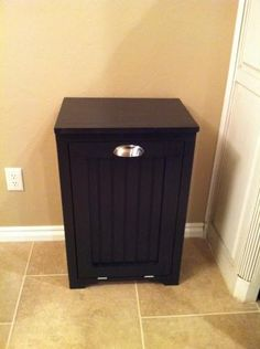 Trash Can Cabinet w/ Bead Board Insert | Do It Yourself Home Projects from Ana White