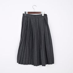 Korea womens shopping mall [REALCOCO] Woolen wrinkles SKT / Size : FREE / Price : 51 USD #korea #fashion #style #fashionshop #apperal #koreashop #ootd #realcoco #bottom #skirts