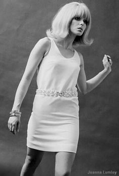 Model Joanne Lumley with the 'flip', 1967.