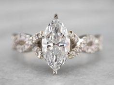 Dream Engagement Rings, Engagement Ring Cuts, Vintage Engagement Rings, Marquise Engagement Rings, Marquise Cut Diamond, Diamond Cuts, Marquise Wedding Set, Wedding Band Sets, Wedding Bells