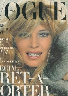 Cover Model: Monica Vitti | Photographed by Helmut Newton | Paris Vogue, October 1972 | youthquakers: Monica Vitti