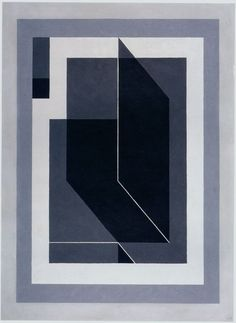 "Josef Albers ""Bent Black A"", 1940 (USA, Abstract Art / Hard Edge Painting, 20th cent.)"