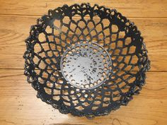 Cement lace bowl