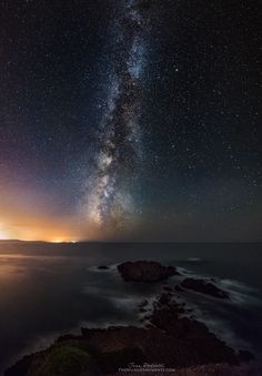 """Starry Bay, Masua, Sardegna.. - Foto scattata con α7, samyang 14, 30"""" f2.8 iso 6400 - da Ivan Pedretti, vincitore nella categoria Foto Panoramiche ai Sony World Photography Awards 2014.  Sito Web: http://www.thewildlifemoments.com/  Facebook: https://www.facebook.com/TheWildlifeMoments"""