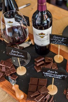 For the love of chocolate! Gather your friends and family for a decadent wine and chocolate pairing tasting party — includes wine & chocolate pairing guide. Cabernet Sauvignon, Sauvignon Blanc, Vino Y Chocolate, Chocolate Party, Wine Tasting Events, Wine Tasting Party, Tasting Room, Chenin Blanc, Wine And Cheese Party