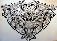Celtic Stag and Birds by *Tattoo-Design on deviantART