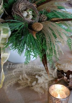 Natural Christmas Decorations &Trees