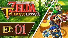 Tri Force Heroes - Part 1 | Woodlands - Deku Forest! [3-Player 100% Walk...