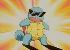 Sunglasses-wearing Squirtle Coming To Pok mon Go First Pokemon, Cute Pokemon, Squirtle Squad, Pikachu, Pokemon Indigo League, Poker, Alluka Zoldyck, Pokemon Photo, Mudkip