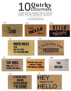 Le crib lol 10 Quirky Statement Doormats — Chic Little House, doormats, door mat ideas, style ideas Wall Shelves Design, Diy Wall Shelves, Diy Wall Decor, Home Decor Wall Art, Diy Decoration, Diy Christmas Gifts For Family, How To Store Shoes, Creative Walls, Front Door Decor