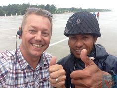 In Naypyidaw, capital of Myanmar, with a Burmese soldier...thumbs up, all is well in the world! www.thefilmfixer.com