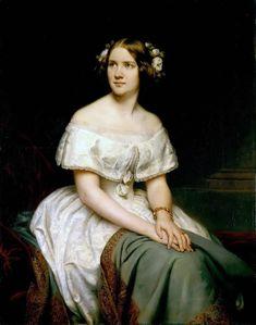 "Eduard Magnus: ""Portrait of Singer Jenny Lind"", 1862, Alte Nationalgalerie - Staatliche Museen zu Berlin  (Germany - Berlin)."