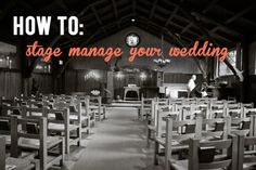 How to Stage Manage Your Wedding #classicAPW