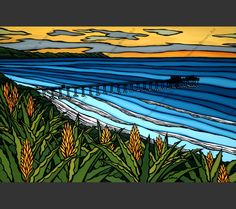 La Jolla Sunset Heather brown