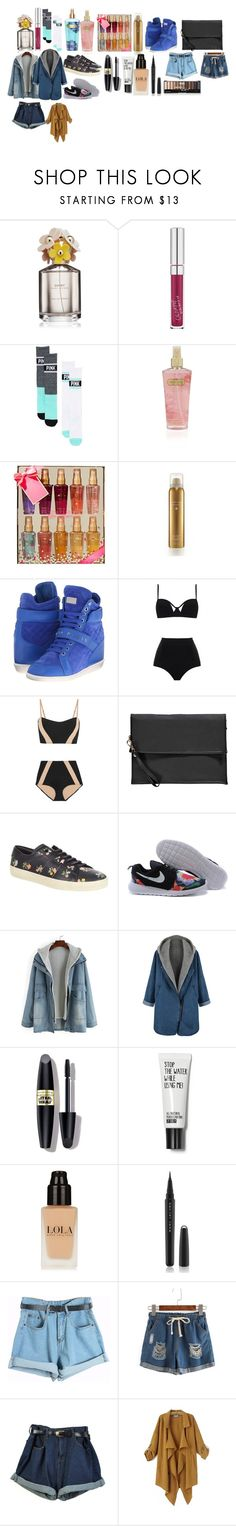 """Shopping haul"" by smile-74 ❤ liked on Polyvore featuring moda, Marc Jacobs, Victoria's Secret, Philipp Plein, MOEVA, Flagpole Swim, Boohoo, Yves Saint Laurent, Max Factor i Chicnova Fashion"