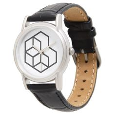 Horse () / Classic Black Leather Watch - diy cyo customize create your own personalize