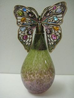 New Jay Strongwater Butterfly Perfume Bottle. Rare! on eBay!