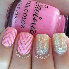 Chevron nails!!!