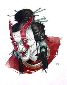 Shadow Warrior designs and illustrations by Michal Dziekan, via Behance