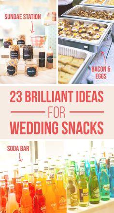 23 Brilliant Wedding Snacks-