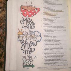 Psalm 143:8 #journalingBible #faithart