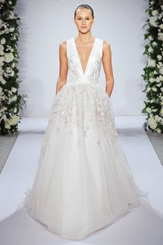 9 Wedding Dress Trends For Anti-Princess Brides #refinery29 http://www.refinery29.com/alternative-wedding-dress-trends#slide5 The Awkward Hands Bride Save for the exchange of rings and holding hands with your new husband or wife, the awkward bride's fingers may not find a comfortable place to fall when it's her day in the spotlight. In this case, Dennis Basso's crystal-embellished pocketed gown provides some security for the shaky-handed lady of the hour. Just be sure to remove them come ...