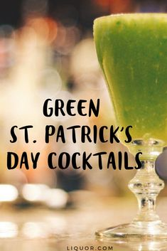 5 Irish Whiskey Drinks for St. Patrick's Day Green Cocktails, Cocktails To Try, Spring Cocktails, Classic Cocktails, Irish Whiskey Drinks, Whiskey Cocktails, Party Drinks, Fun Drinks, St Patricks Day Drinks
