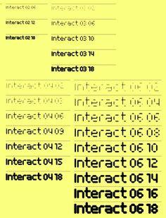 MuirMcNeil / Interact / Typeface / 2014