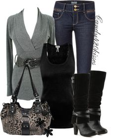 grey and slouchy boots ♥✤ | Keep the Glamour | BeStayBeautiful