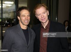 Jerry Bruckheimer and David Caruso during 40th Annual Publicists Awards Arrivals at Beverly Hilton Hotel in Beverly Hills California United States