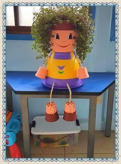 La colocha de materno. Belleza pura. Clay Pot Projects, Clay Pot Crafts, Diy Clay, Clay Flower Pots, Flower Pot Crafts, Clay Pots, Flower Pot People, Clay Pot People, Cheap Christmas Crafts