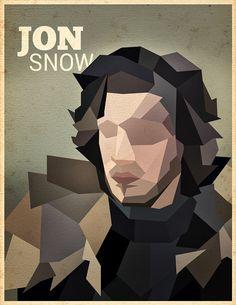 Game of Thrones Polygon Portraits by Ioana Bitin, via Behance
