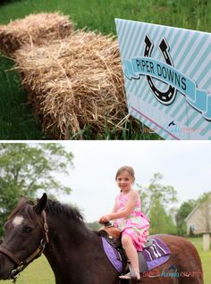 Horses & Hairbows party from She's Kinda Crafty! #horses #hairbows #party #partyideas #ponyrides